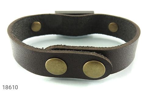 تصویر دستبند چرم طبیعی قهوه ای تیره طرح دیزل مردانه - شماره 3