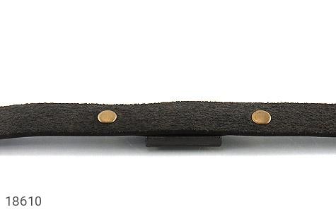عکس دستبند چرم طبیعی قهوه ای تیره طرح دیزل مردانه - شماره 4