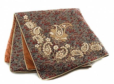 ترمه رومیزی سایز بزرگ طرح رها دست ساز - 18631