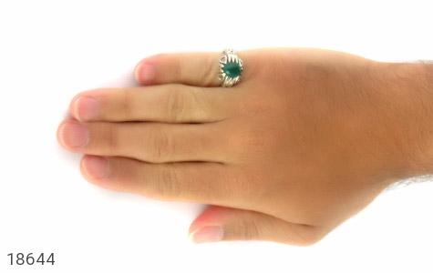 عکس انگشتر عقیق سبز طرح آریا مردانه - شماره 7
