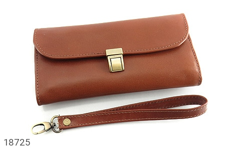 عکس کیف چرم طبیعی دستی شیک رنک قهوه ای - شماره 2