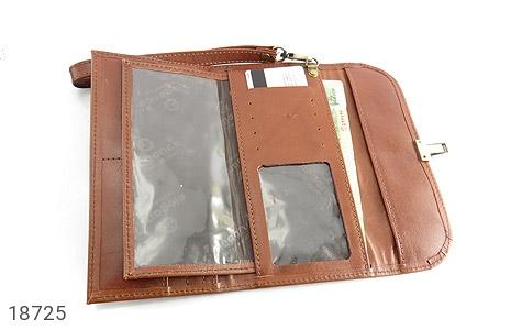 عکس کیف چرم طبیعی دستی شیک رنک قهوه ای - شماره 4