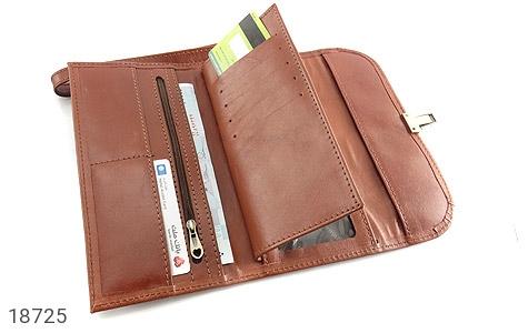 عکس کیف چرم طبیعی دستی شیک رنک قهوه ای - شماره 5