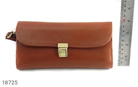عکس کیف چرم طبیعی دستی شیک رنک قهوه ای - شماره 7
