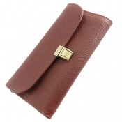 کیف چرم طبیعی دستی شیک و زیبا قهوه ای