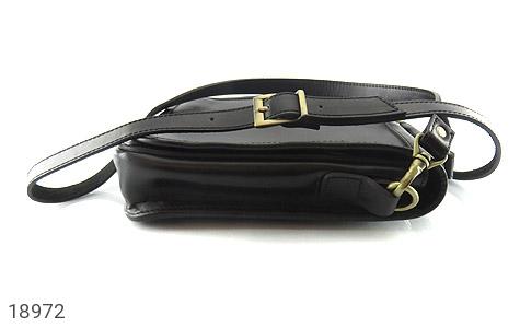 تصویر کیف چرم طبیعی مشکی مدل دوشی جیب دار - شماره 4