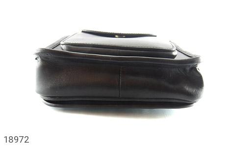 تصویر کیف چرم طبیعی مشکی مدل دوشی جیب دار - شماره 5