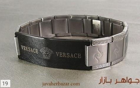 عکس دستبند استیل مارک ورساچه مردانه - شماره 2