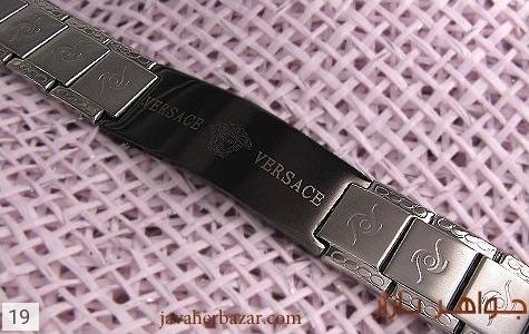 عکس دستبند استیل مارک ورساچه مردانه - شماره 3