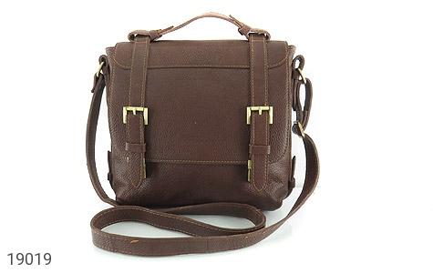 عکس کیف چرم طبیعی قهوه ای طرح دوشی رسمی