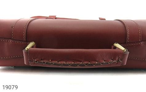 عکس کیف چرم طبیعی بنددوشی و دستی قهوه ای - شماره 10