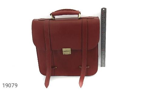 عکس کیف چرم طبیعی بنددوشی و دستی قهوه ای - شماره 11