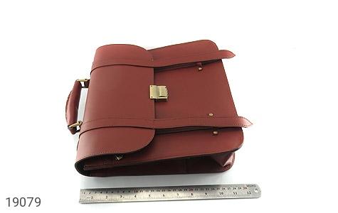 تصویر کیف چرم طبیعی بنددوشی و دستی قهوه ای - شماره 12