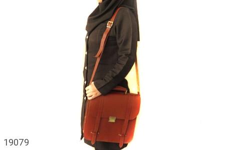 عکس کیف چرم طبیعی بنددوشی و دستی قهوه ای - شماره 13