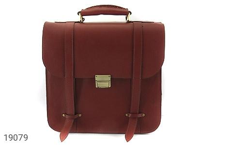 تصویر کیف چرم طبیعی بنددوشی و دستی قهوه ای - شماره 2