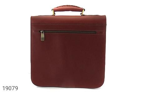 عکس کیف چرم طبیعی بنددوشی و دستی قهوه ای - شماره 3
