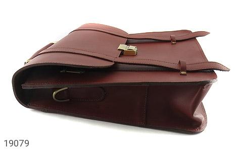 تصویر کیف چرم طبیعی بنددوشی و دستی قهوه ای - شماره 4