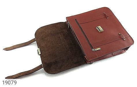 عکس کیف چرم طبیعی بنددوشی و دستی قهوه ای - شماره 6
