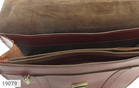 تصویر کیف چرم طبیعی بنددوشی و دستی قهوه ای - شماره 7