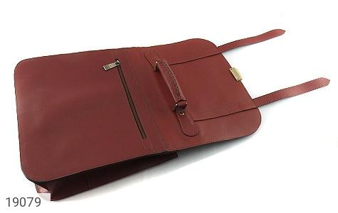 عکس کیف چرم طبیعی بنددوشی و دستی قهوه ای - شماره 8