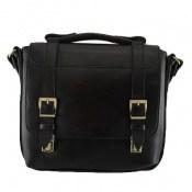 کیف چرم طبیعی مشکی طرح نیمه دیپلمات