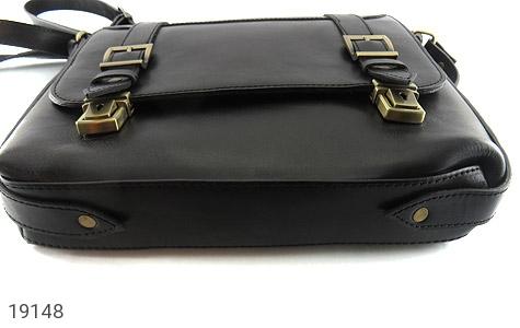 تصویر کیف چرم طبیعی مشکی طرح نیمه دیپلمات - شماره 4