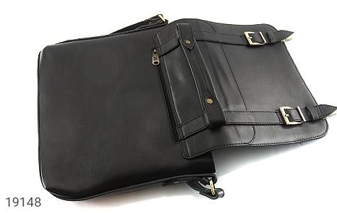 تصویر کیف چرم طبیعی مشکی طرح نیمه دیپلمات - شماره 8