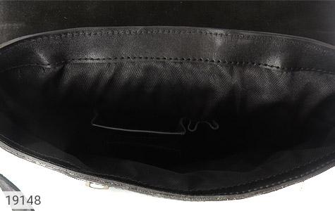عکس کیف چرم طبیعی مشکی طرح نیمه دیپلمات - شماره 9