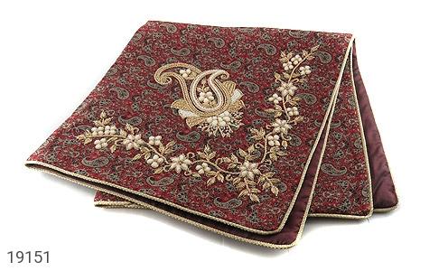 عکس ترمه رومیزی بزرگ طرح سنتی