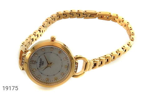 عکس ساعت تیسوت TISSOT نگیندار طلائی زنانه