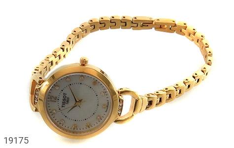 ساعت مچی نگین دار طلائی زنانه TISSOT - 19175