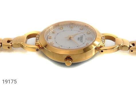 عکس ساعت تیسوت TISSOT نگیندار طلائی زنانه - شماره 3