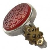 انگشتر نقره عقیق یمن یا فاطمة اشفعی لی فی الْجنة مردانه