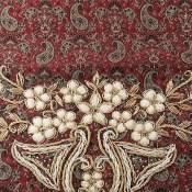 ترمه رومیزی سه تکه عسلی طرح گلشیفته