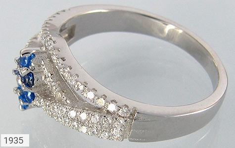 عکس انگشتر نقره یاقوت سنتاتیک طرح پیچ زنانه