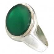 انگشتر عقیق سبز صفوی درشت مردانه