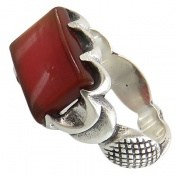 انگشتر نقره عقیق سرخ صفوی طرح سام مردانه