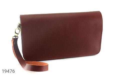 عکس کیف چرم طبیعی دستی طرح کلاسیک خوش رنگ