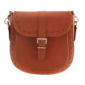 کیف چرم طبیعی مدل دوشی اسپرت عسلی زنانه