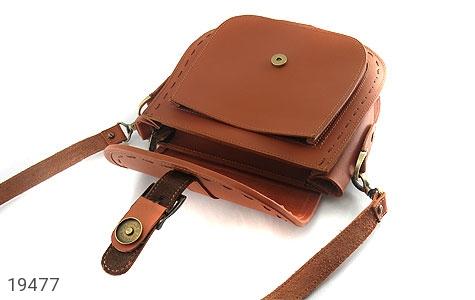 عکس کیف چرم طبیعی مدل دوشی اسپرت عسلی زنانه - شماره 3