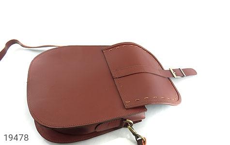 تصویر کیف چرم طبیعی مدل دوشی و اسپرت زرشکی زنانه - شماره 4