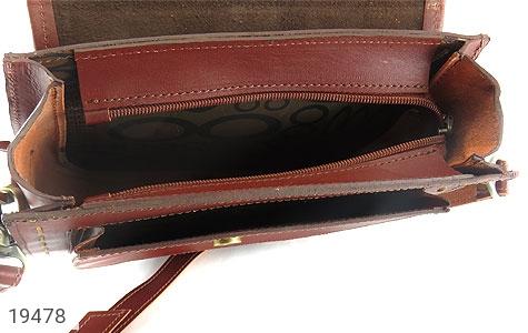 عکس کیف چرم طبیعی مدل دوشی و اسپرت زرشکی زنانه - شماره 5