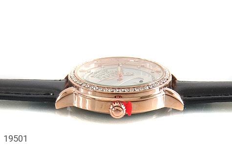 تصویر ساعت لنگر بند چرمی LANGAR بند مشکی مجلسی پرنگین زنانه - شماره 3