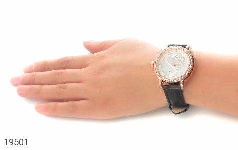 تصویر ساعت لنگر بند چرمی LANGAR بند مشکی مجلسی پرنگین زنانه - شماره 6