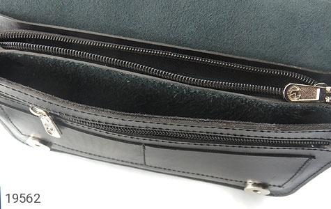 عکس کیف چرم طبیعی کیف مشکی - شماره 5