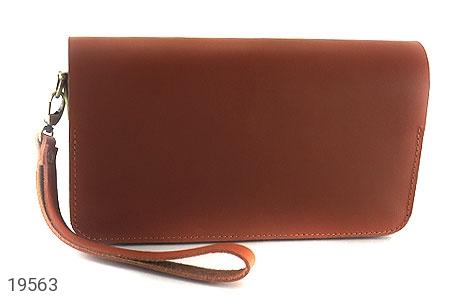 عکس کیف چرم طبیعی عسلی دستی طرح کلاسیک