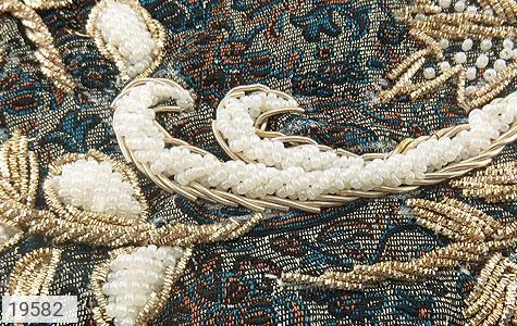 تصویر ترمه رومیزی سایز بزرگ طرح شهناز - شماره 3