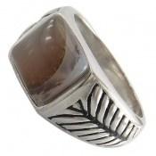 انگشتر نقره عقیق طرح خاص و جذاب مردانه
