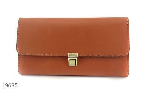 عکس کیف چرم طبیعی عسلی دستی مدل فاخر - شماره 2