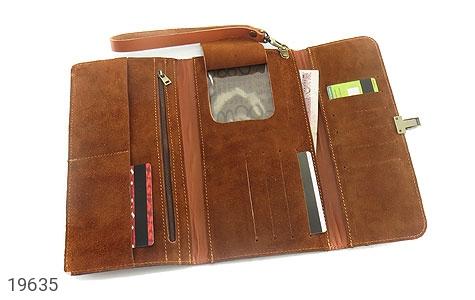 تصویر کیف چرم طبیعی عسلی دستی مدل فاخر - شماره 3
